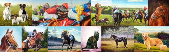 A collection of completed commission prints done by Chapman Fine Art
